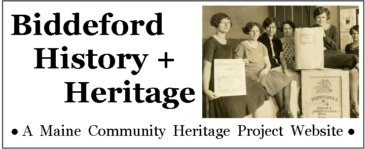 Biddeford history website