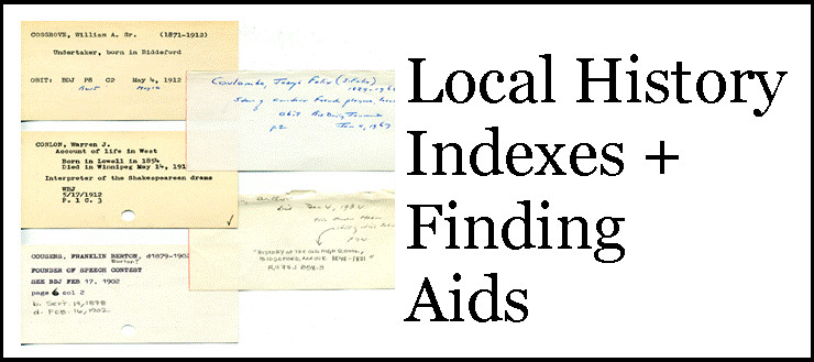 Indexes and finding aids