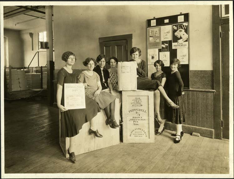 Pepperell Mill packers circa 1925
